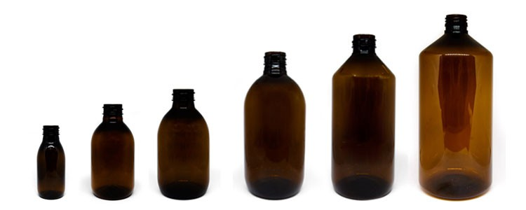 Amber-colored Bottles
